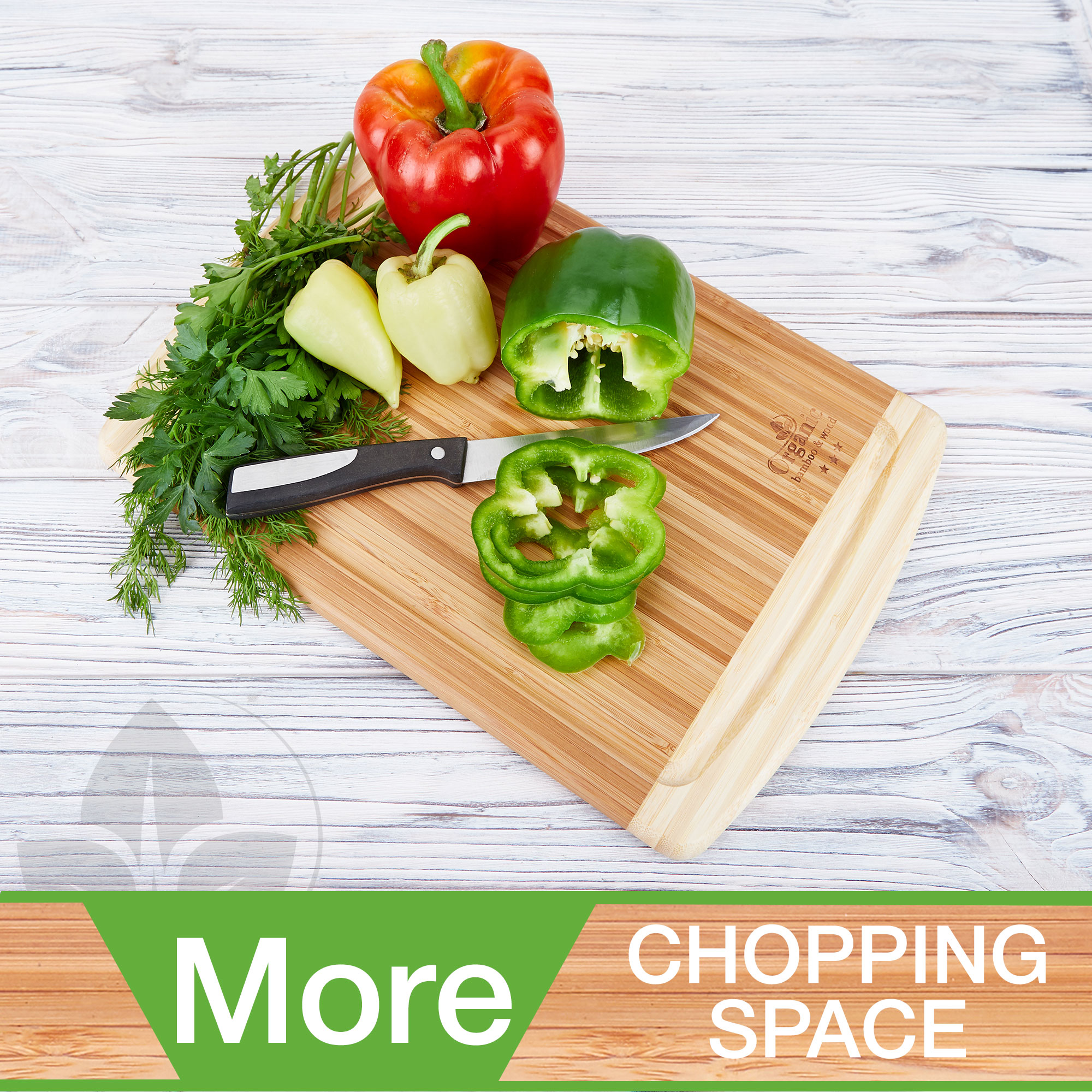 Totally Bamboo 2 Piece Cutting Board Set Organic Bamboo Wood