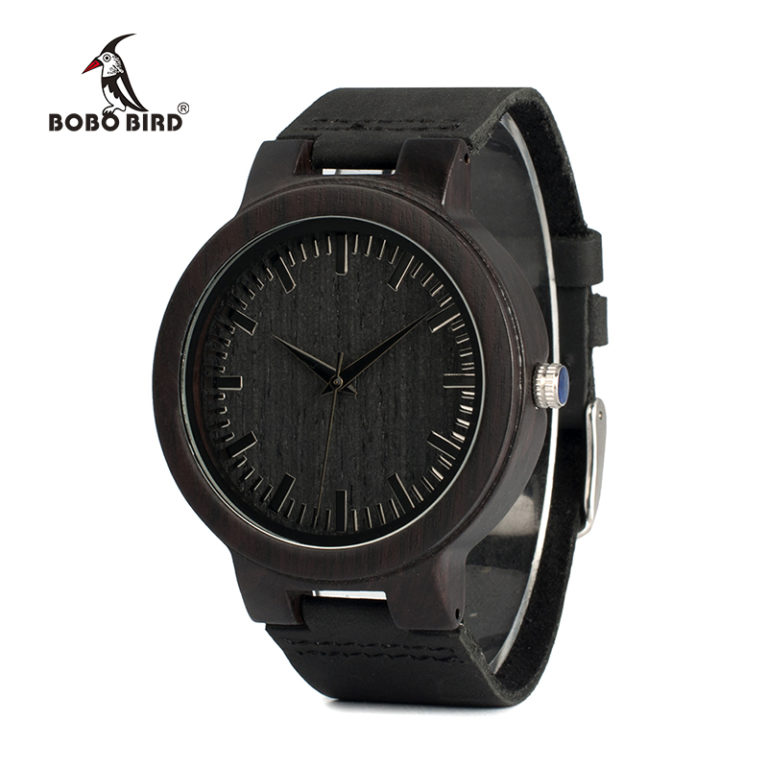 bobo display bird chronograph watch with s men product wood watches wooden mens bobobird pro black date ebony
