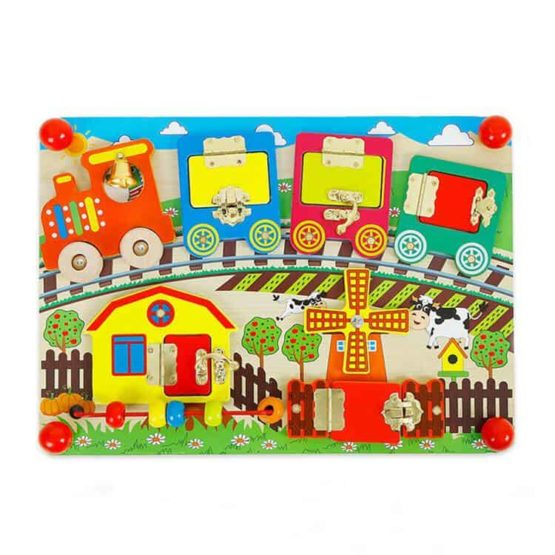 educational toddler busy board